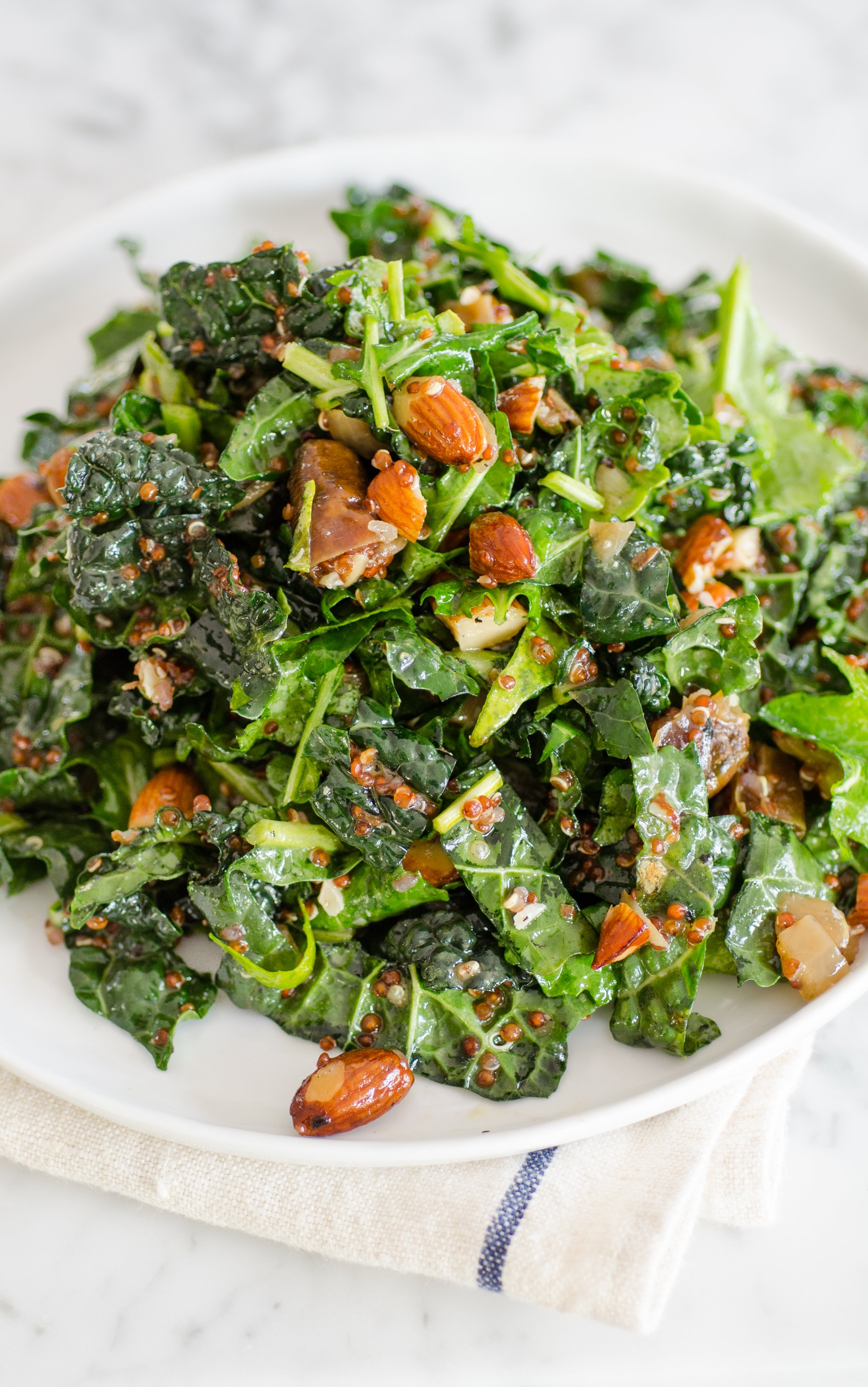 Recipe: Kale & Quinoa Salad with Dates, Almonds & Citrus Dressing | Kitchn