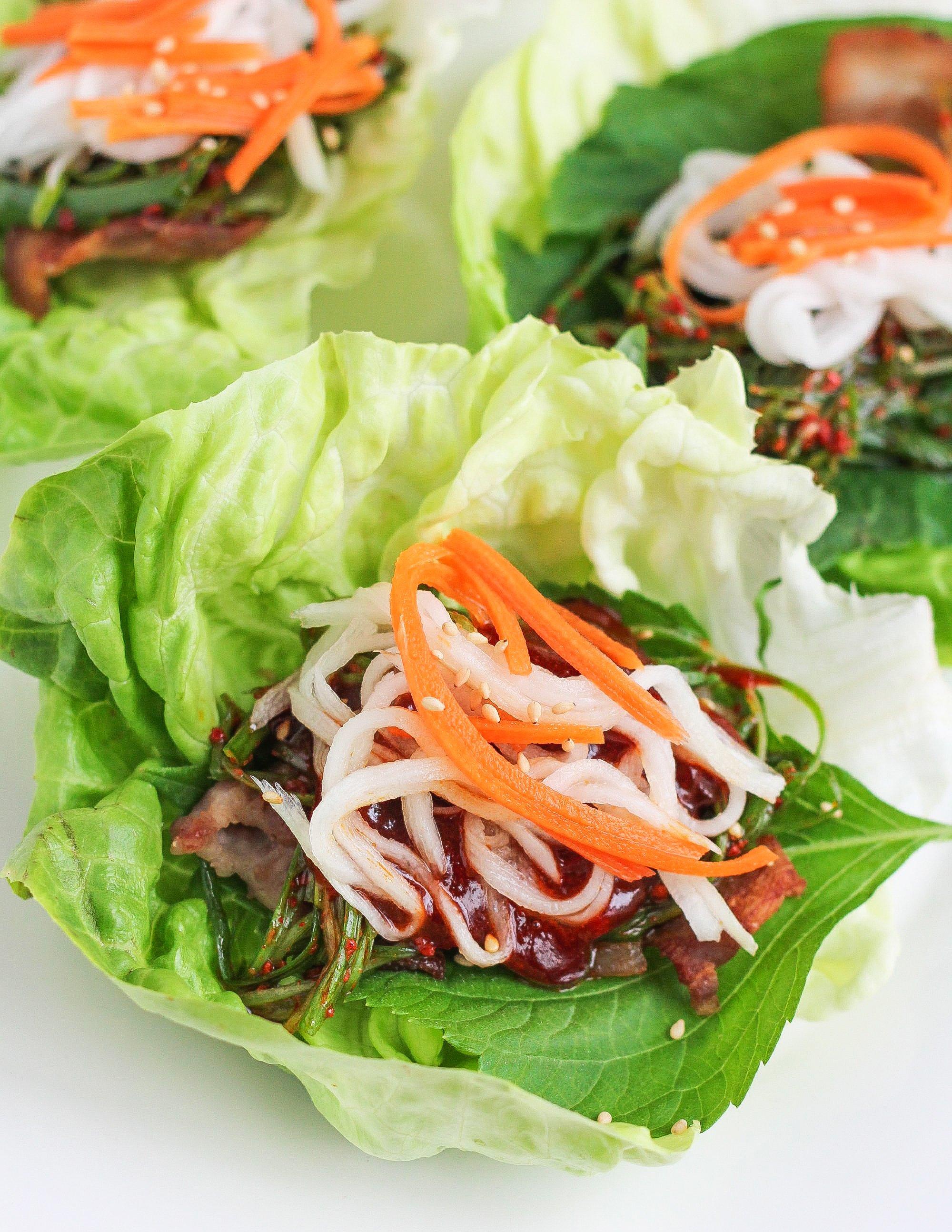 Recipe: Pork Belly Lettuce Wraps   Kitchn