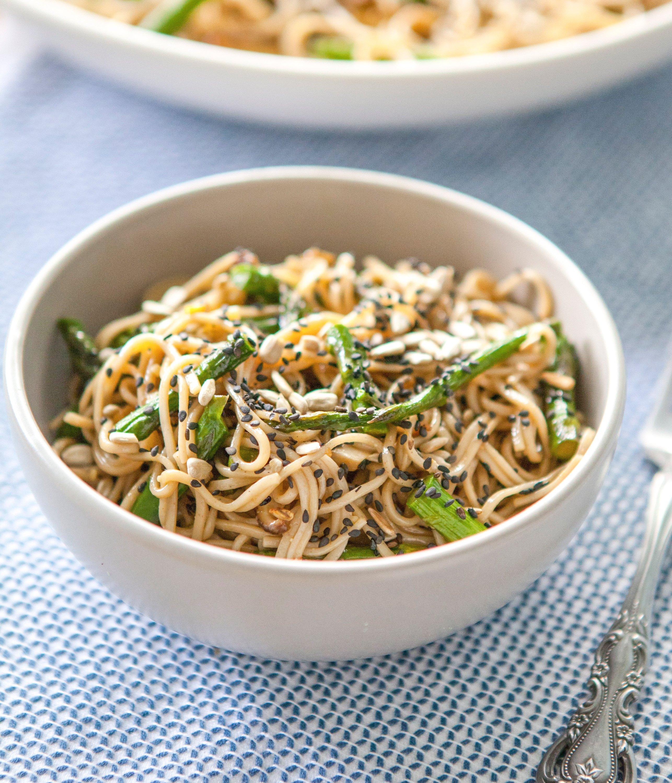 Recipe: Miso-Roasted Asparagus Soba Noodle Salad | Kitchn