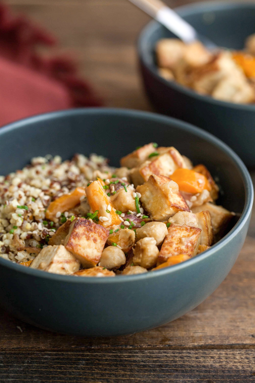 Recipe: Tofu Chickpea Stir-Fry with Tahini Sauce | Kitchn