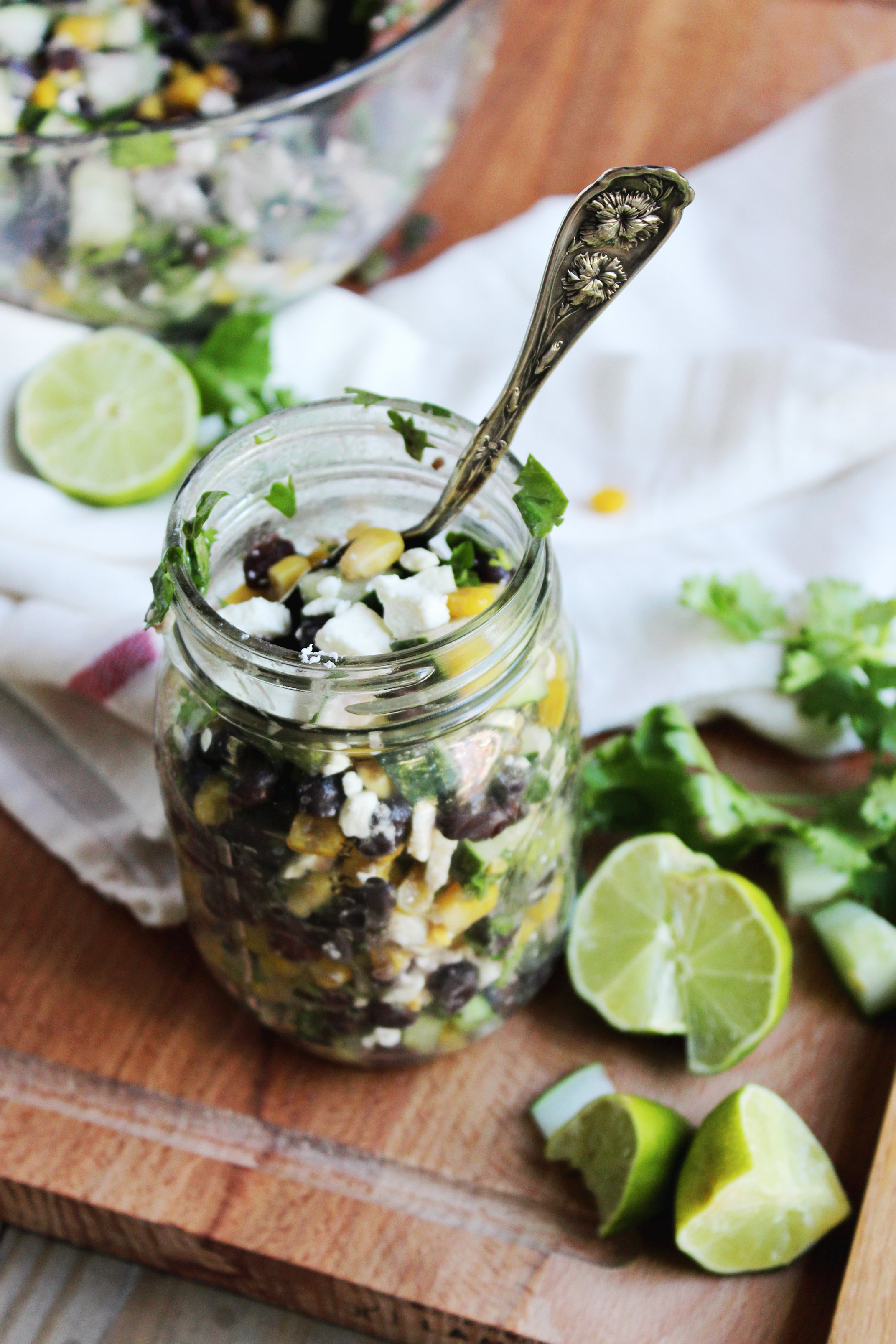 Recipe: Chilled Black Bean, Feta & Cucumber Salad | Kitchn