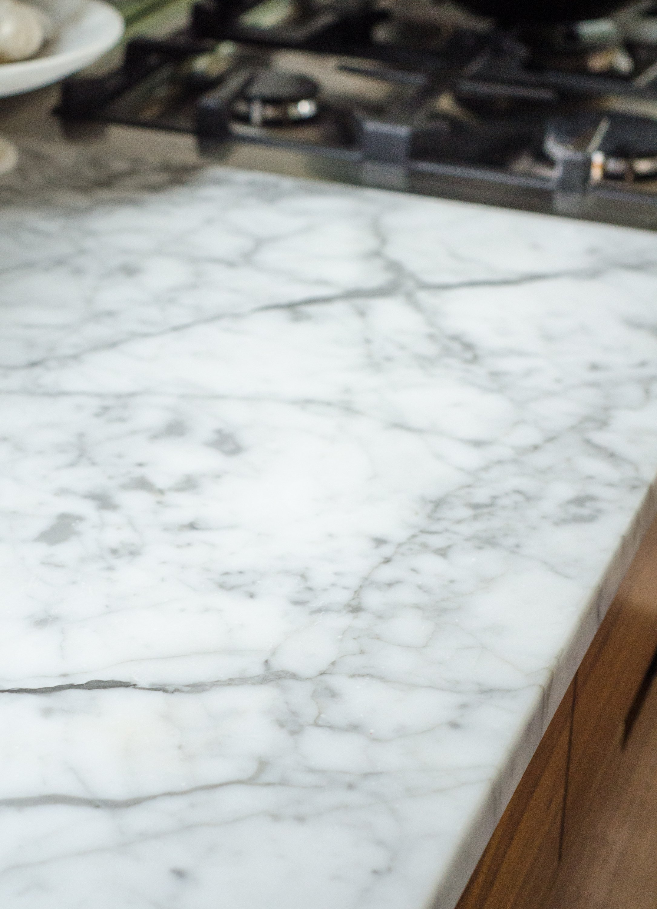 Here's What an Etch on a Marble Countertop Actually Looks