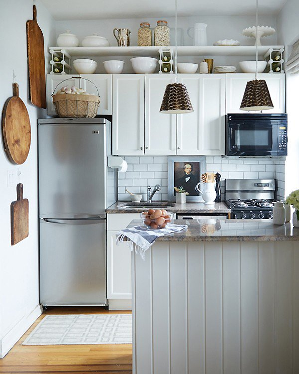 Another Way to Use That Above-Cabinet Space? Hang a Shelf There! | Kitchn