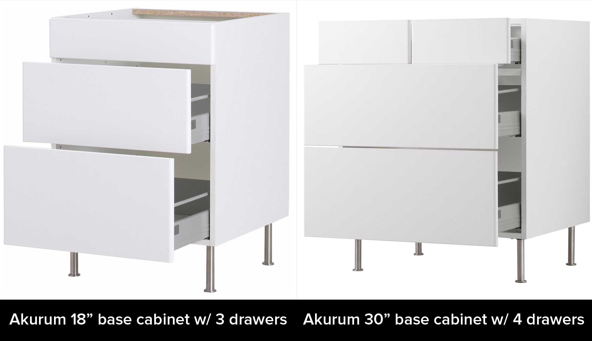 IKEA's AKURUM vs  SEKTION Cabinets: What's the Difference