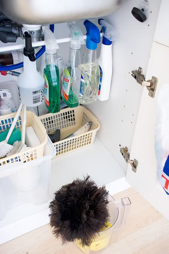 5 Ways to Organize That Dreaded Area Under the Sink | Kitchn