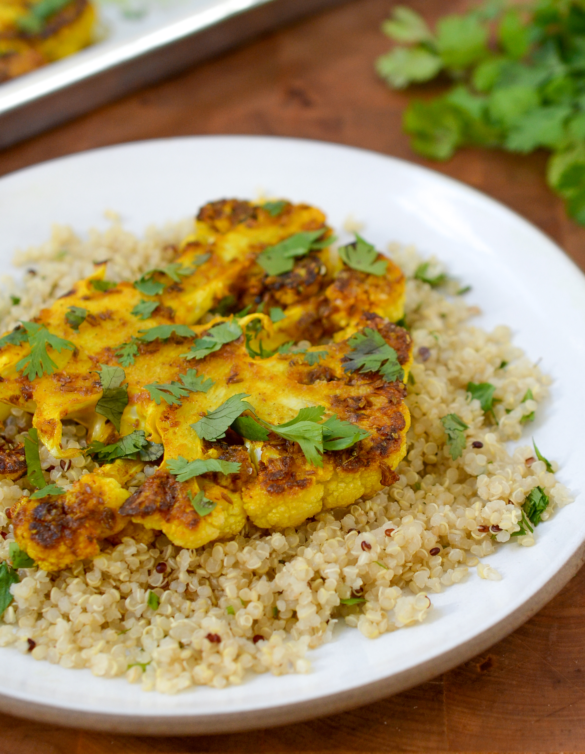 Recipe: Cauliflower Steaks with Ginger, Turmeric, and Cumin | Kitchn