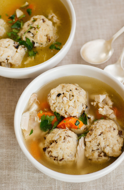 Recipe Chicken Soup With Shallot Shiitake Matzo Balls Kitchn