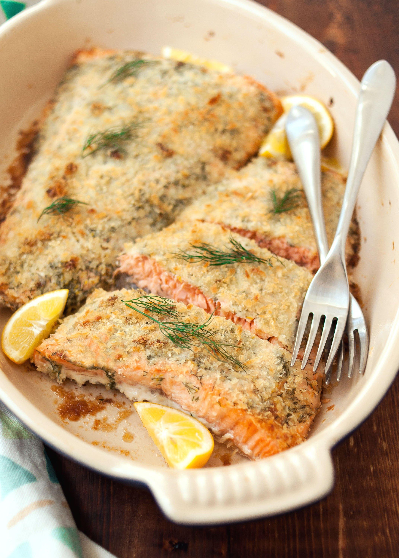 Recipe: Panko-Crusted Salmon with Dill & Lemon   Kitchn