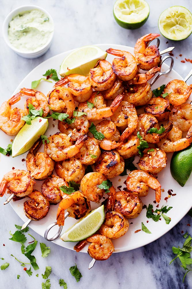 You Need This Grilled Spicy Shrimp with Creamy Avocado Sauce at Your Next BBQ | Kitchn