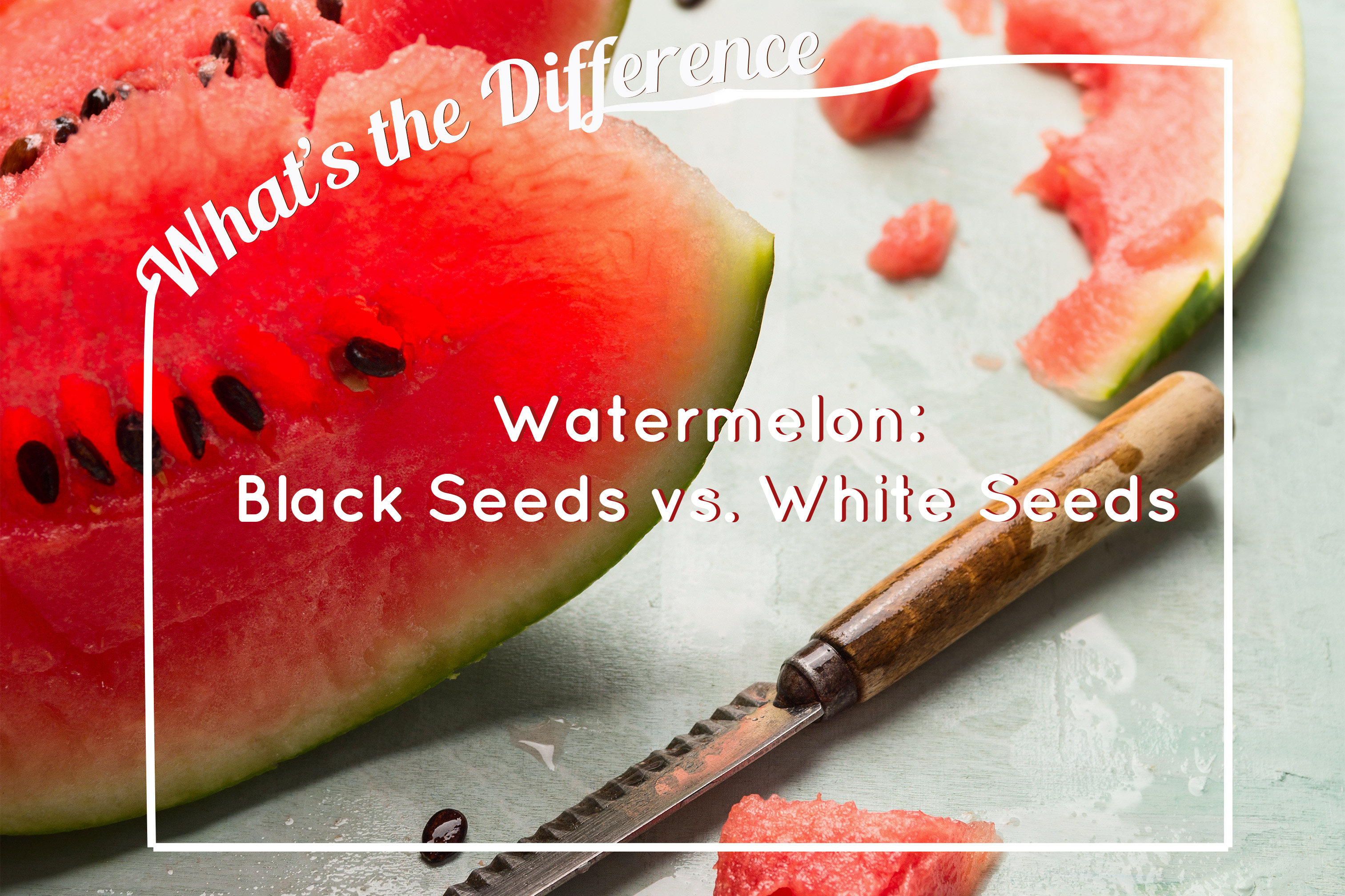 Whats the difference between white and black seeds in