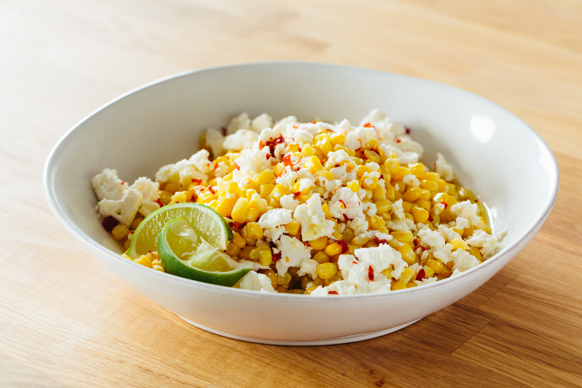 5-Minute Freezer Side Dish: Corn with Feta & Lime | Kitchn