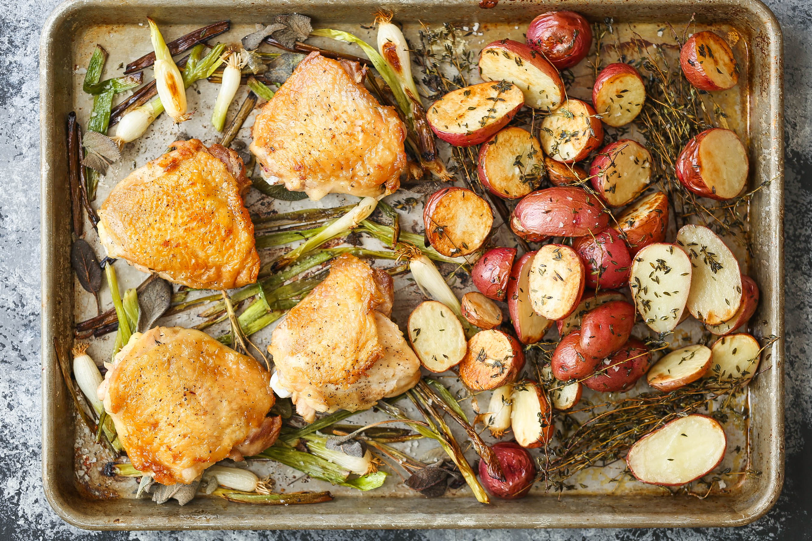 Recipe: Sheet Pan Chicken with Red Potatoes and Sage