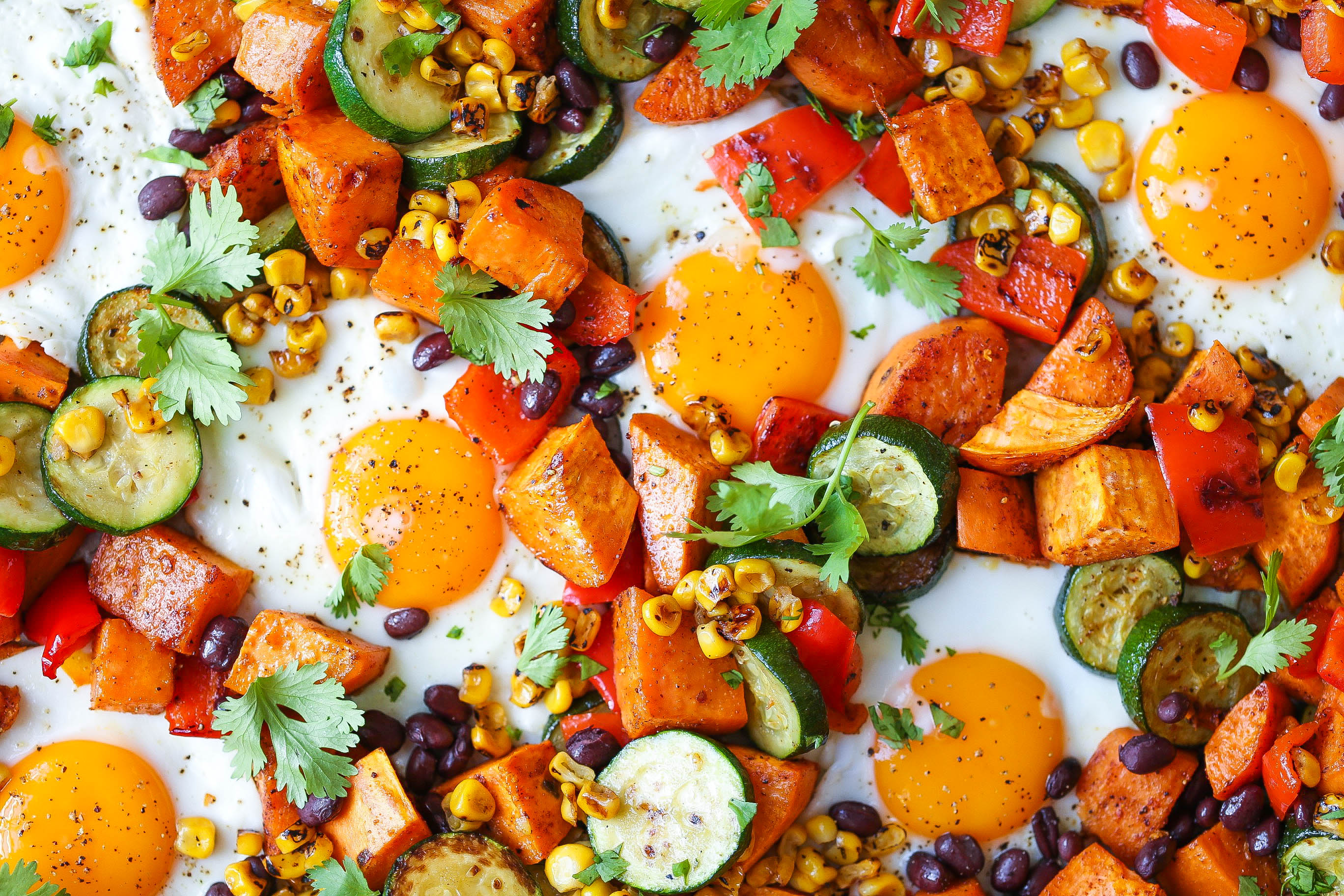 Recipe: Sheet Pan Sweet Potatoes and Black Bean Hash | Kitchn