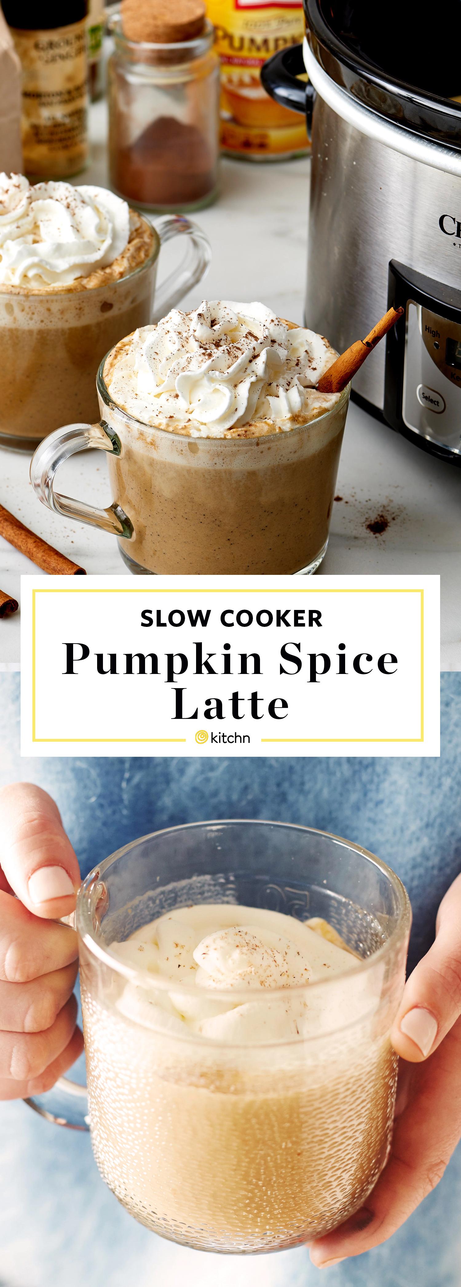 Slow-Cooker Pumpkin Spice Lattes