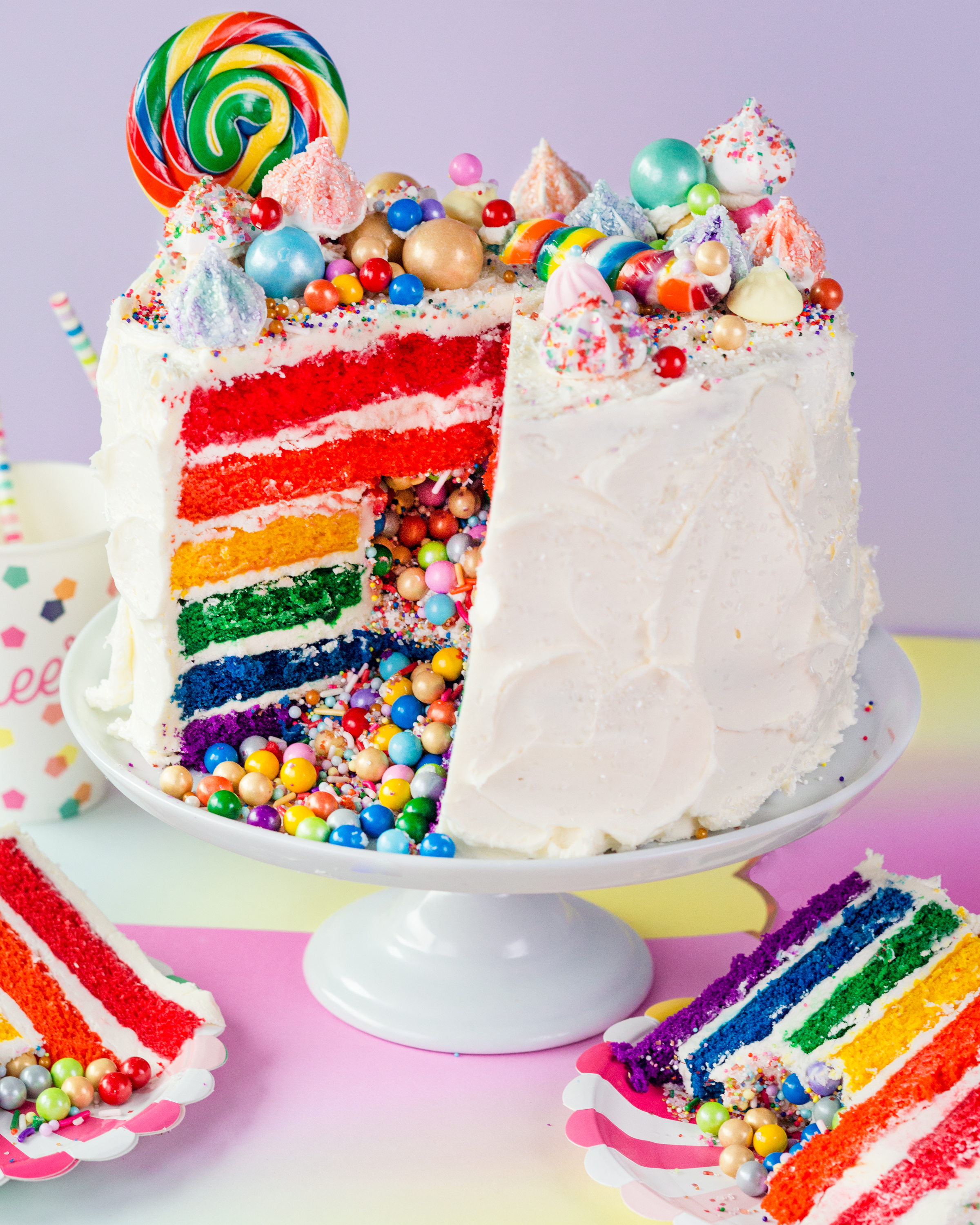 How To Make The Ultimate Rainbow Surprise Cake
