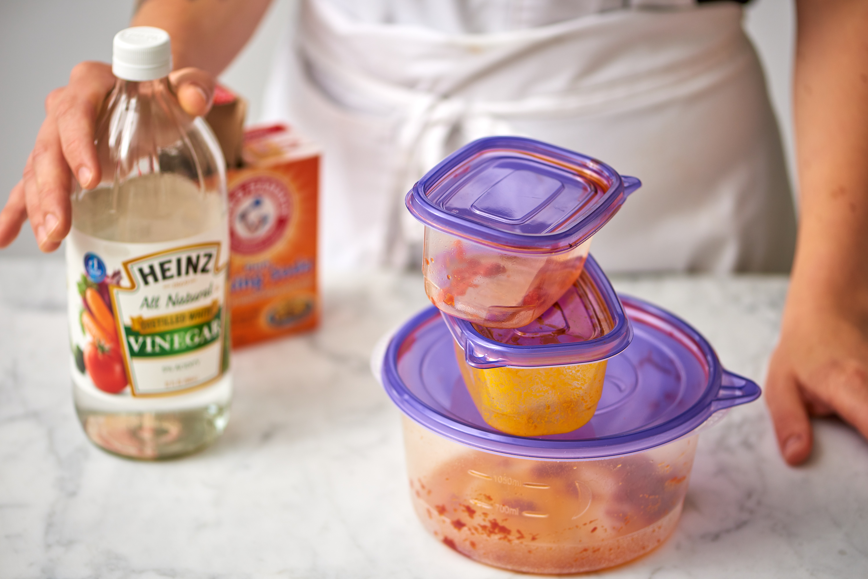 The Best Way To Get Stains Out Of Plastic Containers