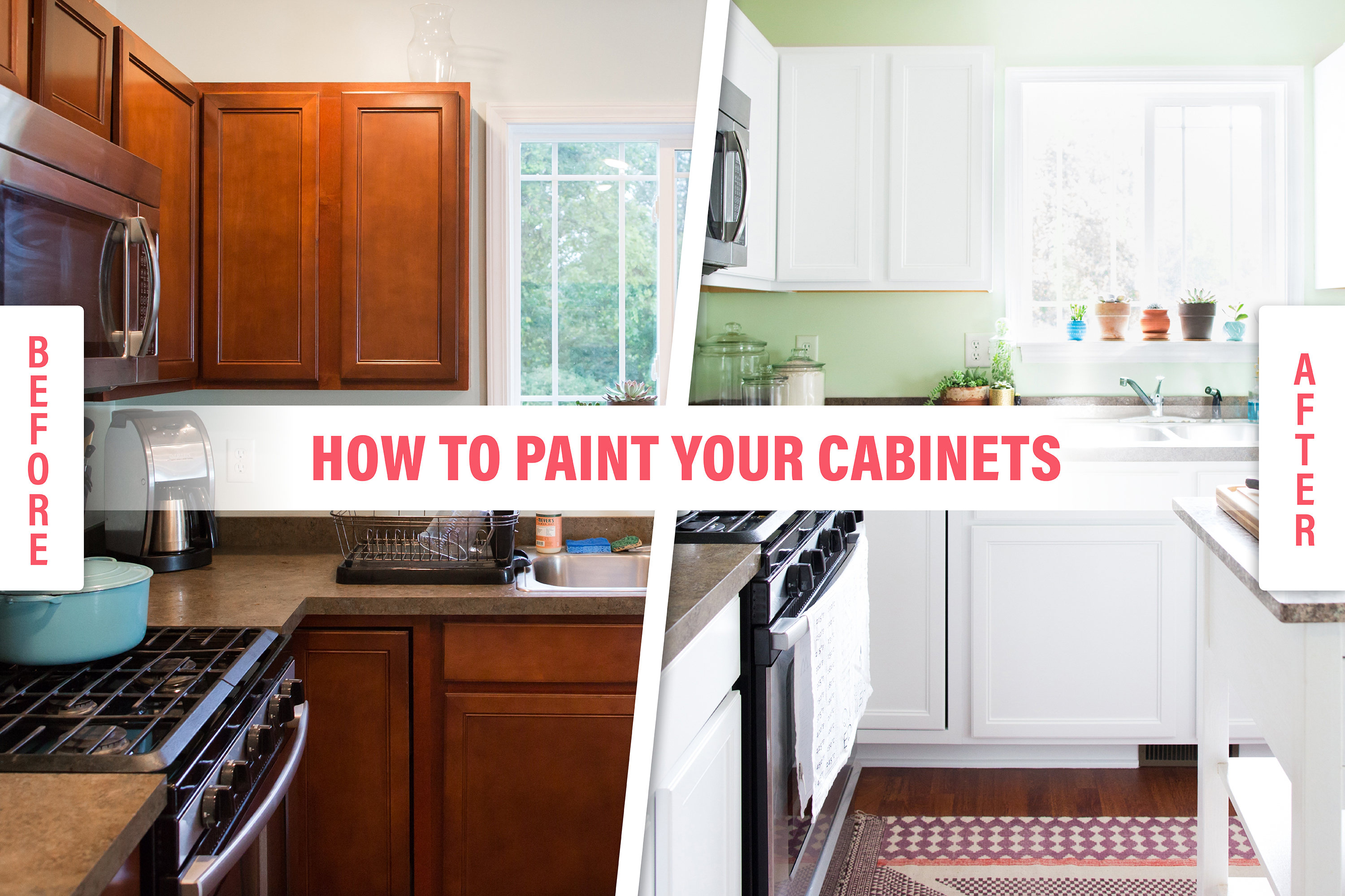 How To Paint Wood Kitchen Cabinets With White Kitchn