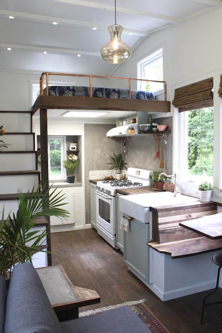Pleasing 7 Kitchen Storage Ideas To Steal From Tiny Houses Kitchn Ibusinesslaw Wood Chair Design Ideas Ibusinesslaworg