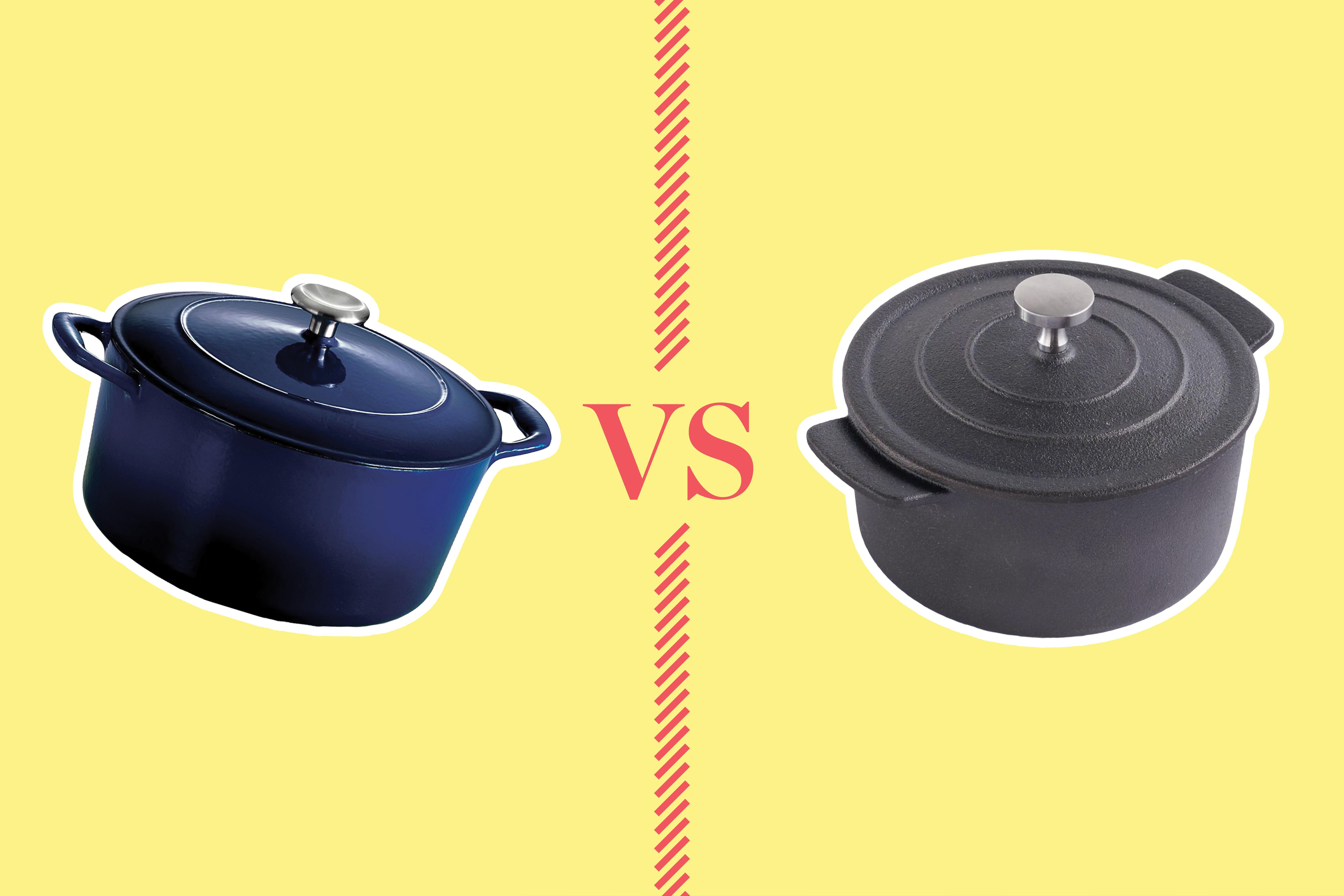 Cast Iron Versus Enameled Cast Iron Dutch Ovens Kitchn