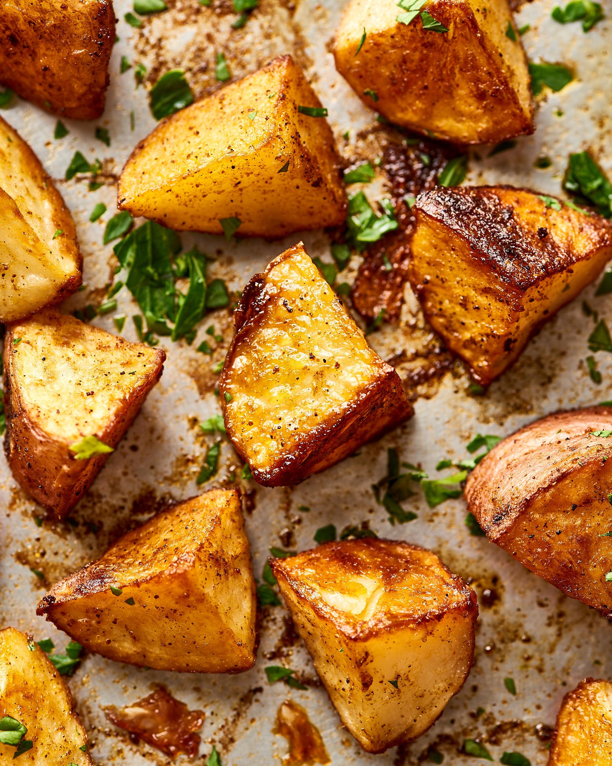 Recipe: 3-Ingredient Sheet Pan Cajun Spiced Potatoes