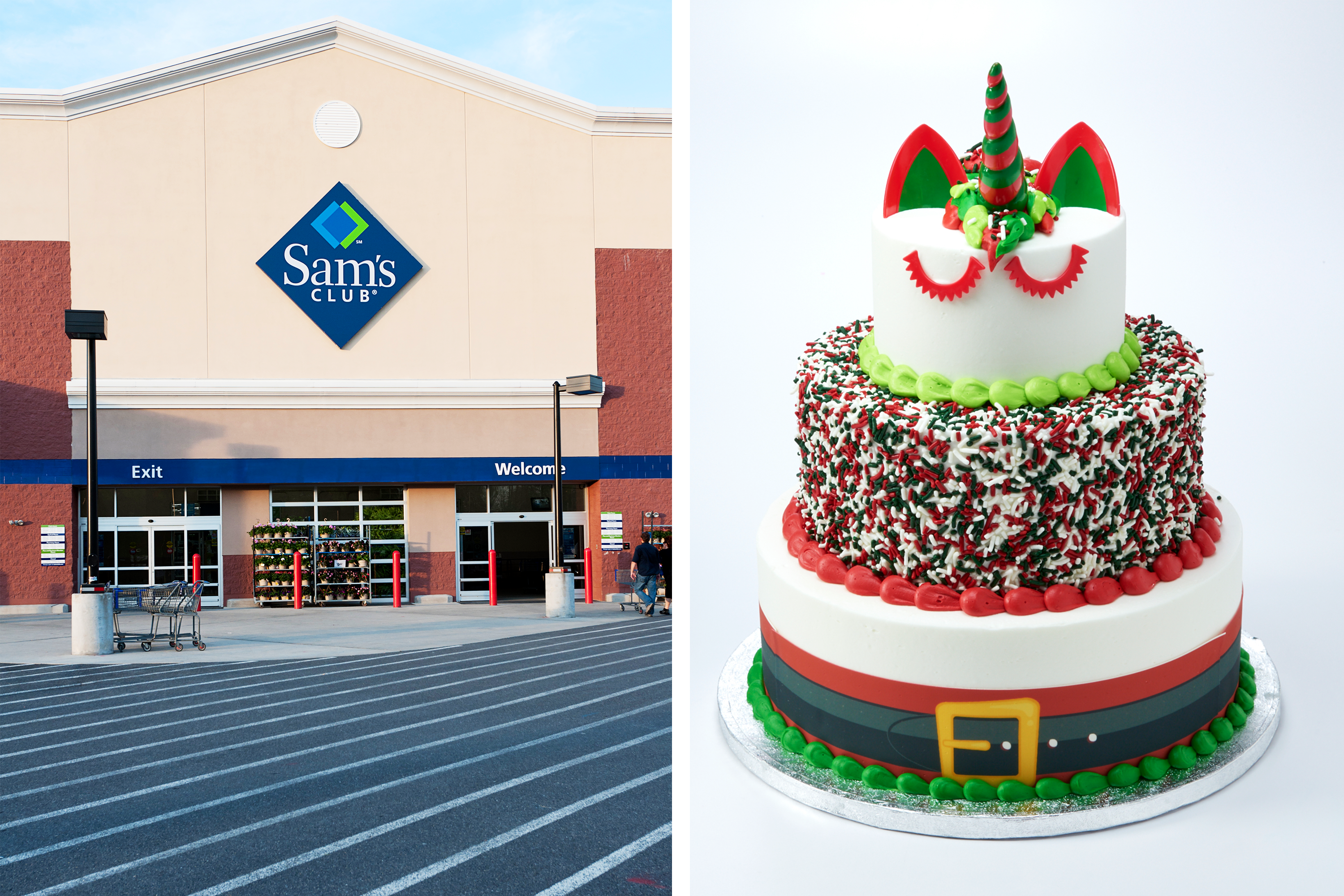 Peachy Of Course Sams Club Has A Santa Unicorn Cake For Sale Kitchn Funny Birthday Cards Online Alyptdamsfinfo