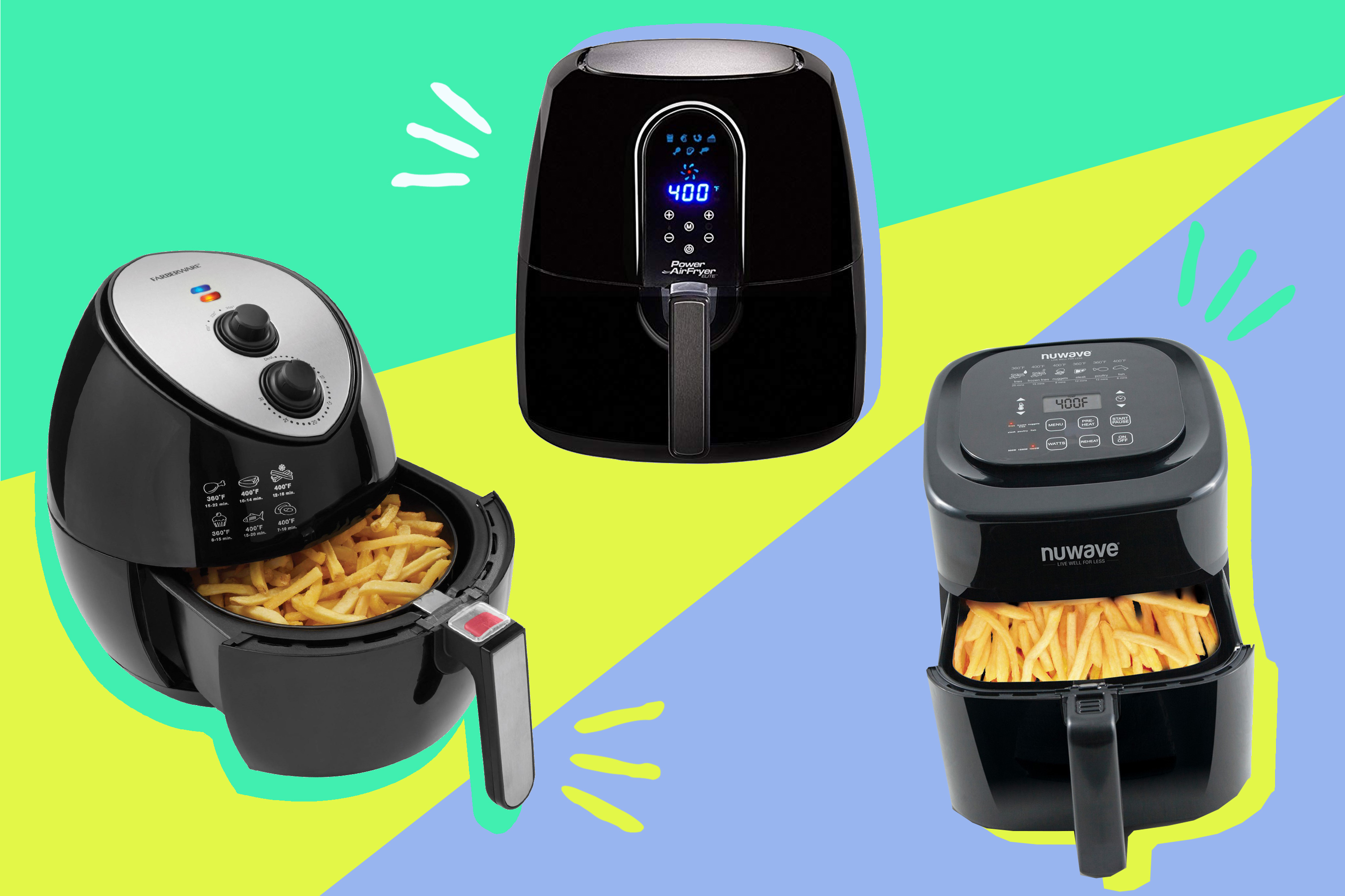 QnA VBage We Compared the NuWave, Power Air, and Farberware Air Fryers: Here's Our Candid Review — Shopping