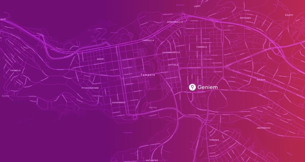 Tampere.Finland kartta