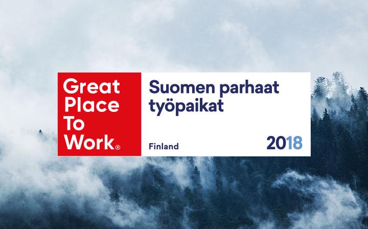 Geniem – Great Place To Work 2018 – Suomen Parhaat työpaikat