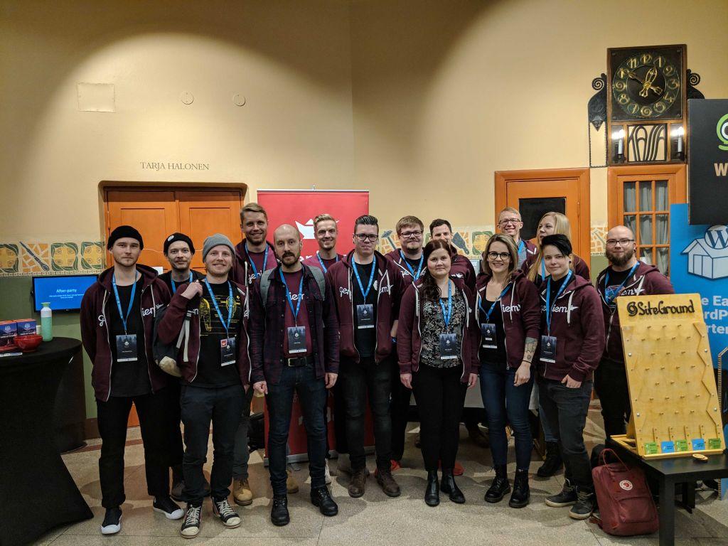Geniemin 15 hengen edustus WordCamp Nordicissa