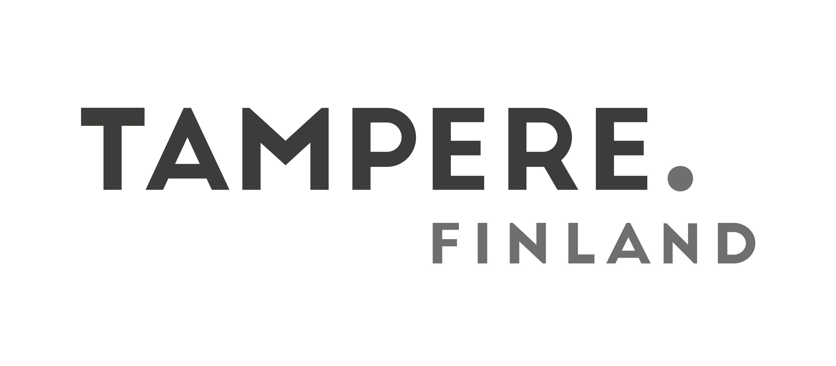 Tampere Finland logo mustavalkoinen