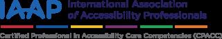 IAAP saavutettavuuden ammattilaisen sertfiointi CPACC logo
