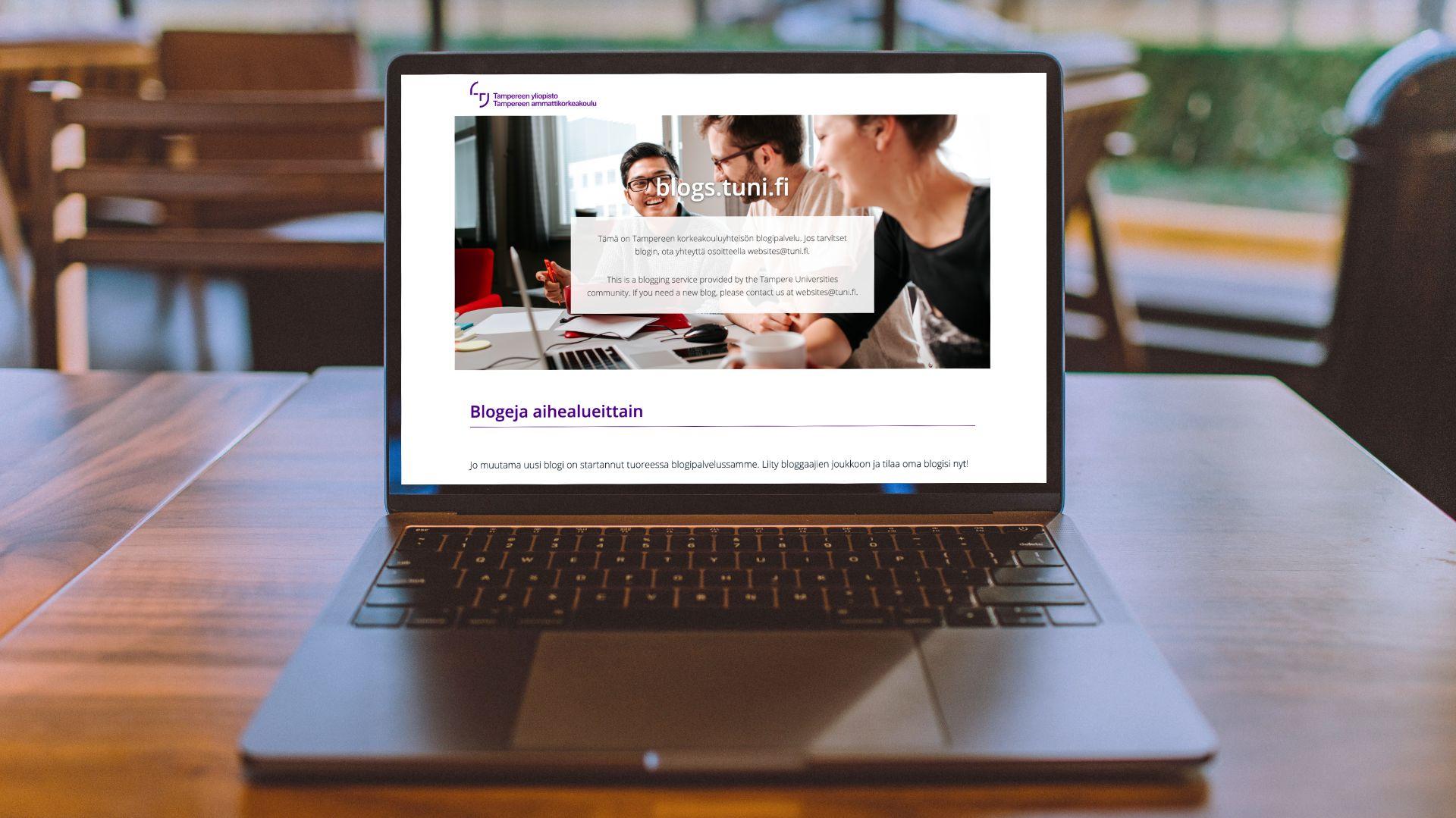 Tampereen korkeakouluyhteisön WordPress-kotisivukone