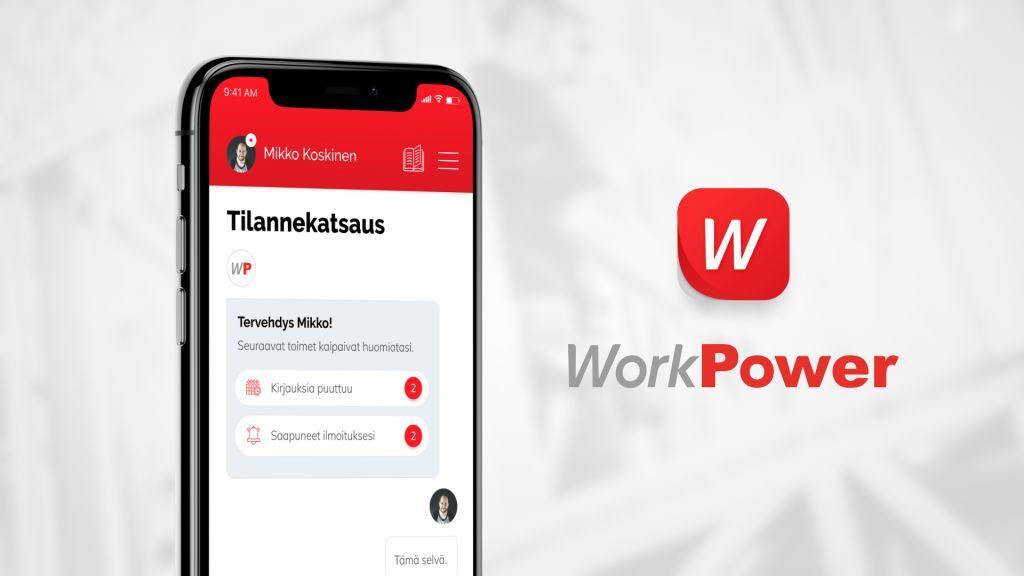 WorkPower-sovellus mainoskuva
