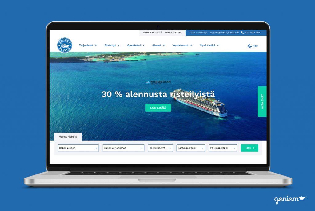 Risteilykeskus.fi referenssin mock up