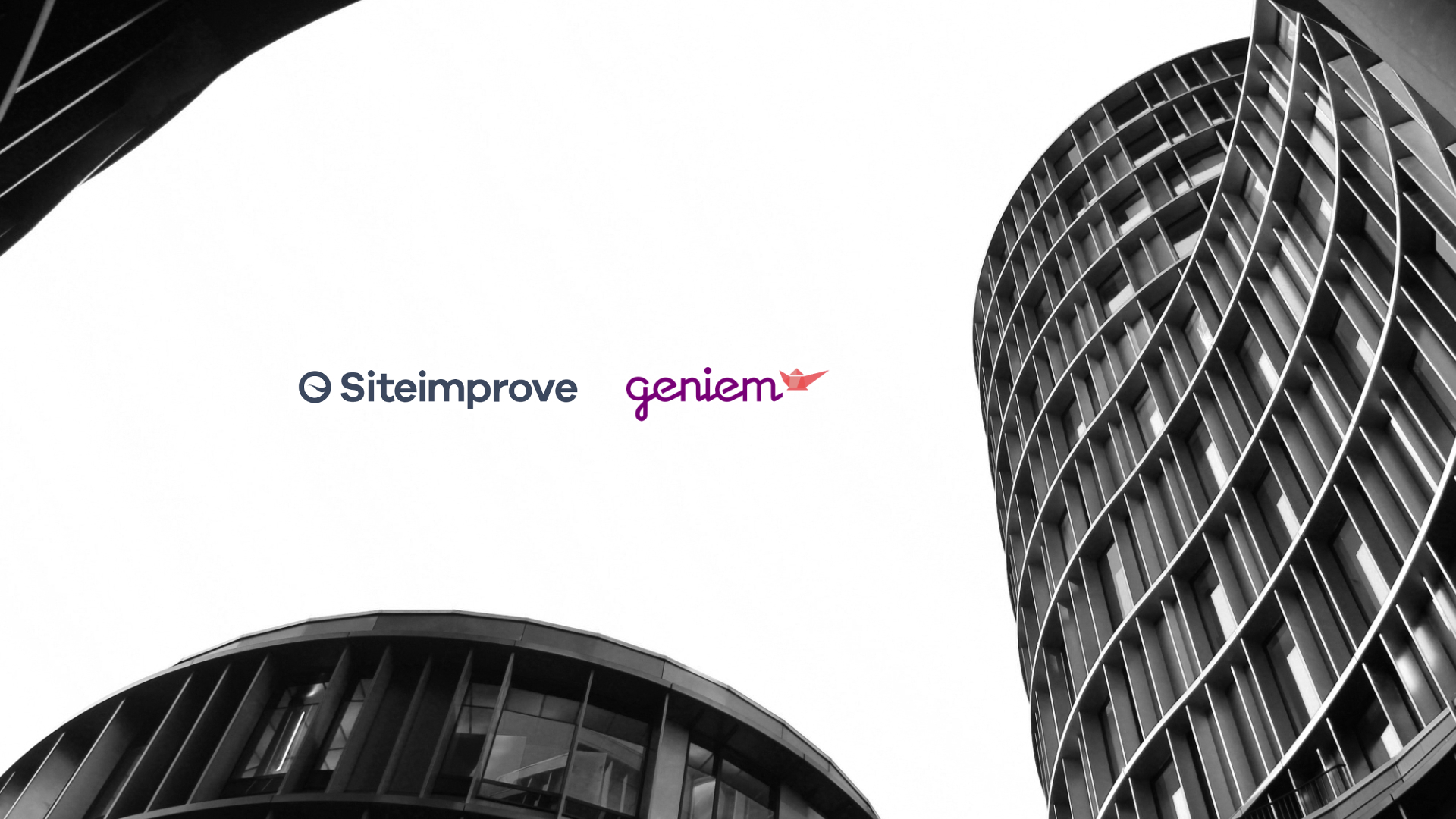 Siteimprove ja Geniem-logot (kuvituskuva)