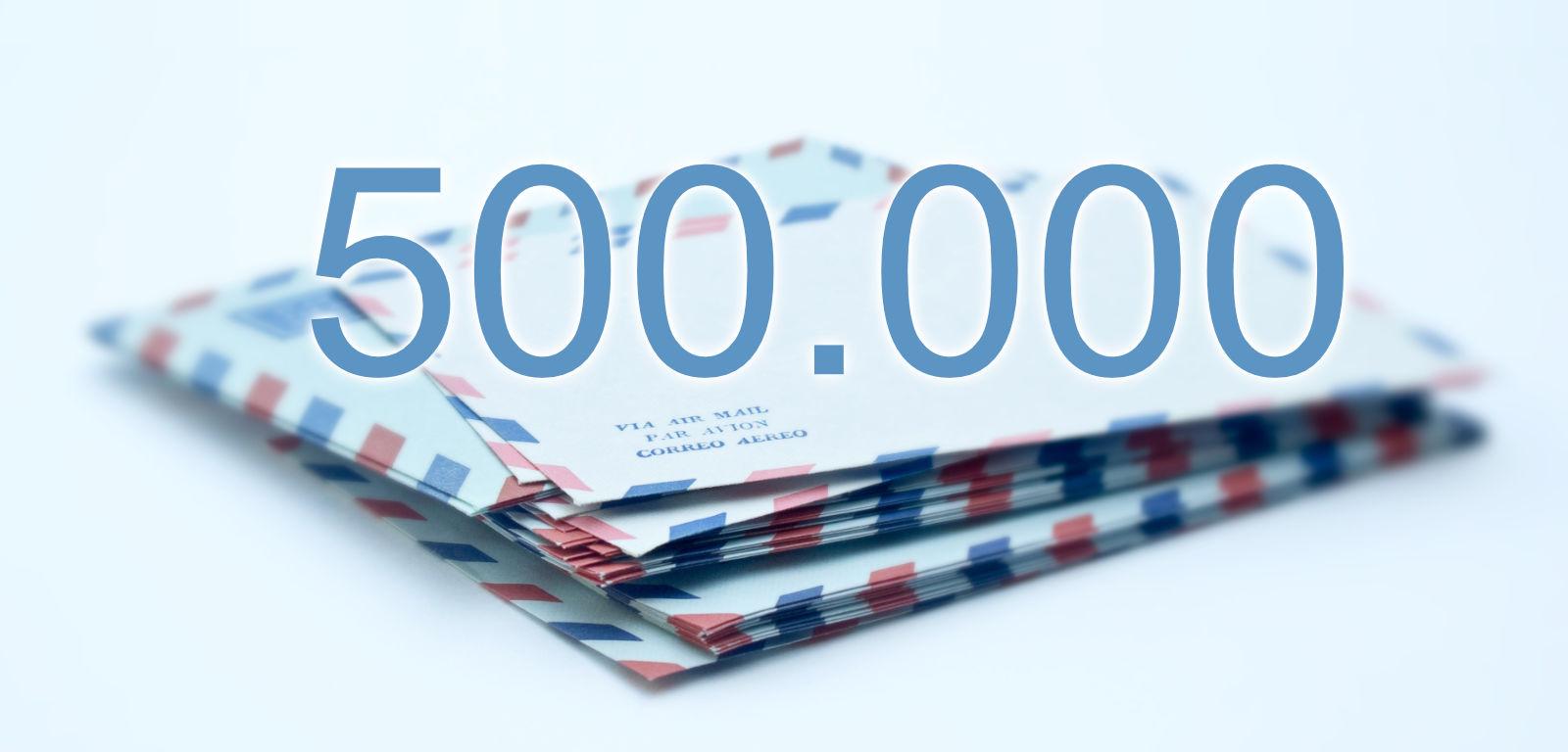 Halbe Million geknackt