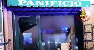 Panificio in fiamme a Portofino