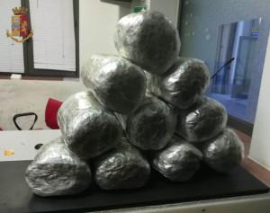 La Polizia arresta un 'corriere' della droga con 10 chilogrammi di sostanza stupefacente