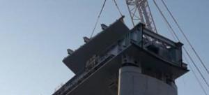 Lavori in quota, si forma la nuova 'chiglia' del ponte di Genova