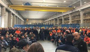 A Genova l'assemblea dei lavoratori Arcelor Mittal