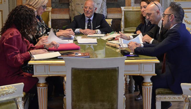 Una delegazione dalla città di Murcia a Palazzo Tursi