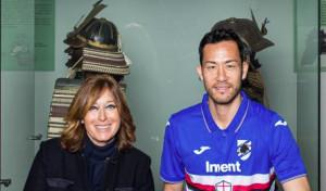 Maya Yoshida, al Chiossone le prime foto in maglia blucerchiata