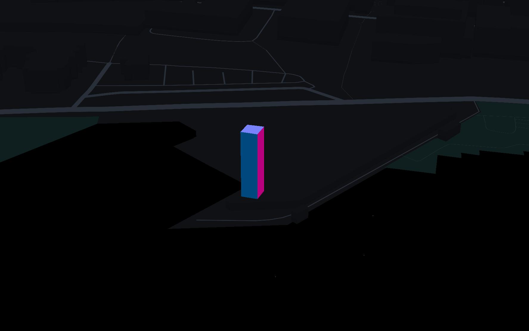 threejs box on map