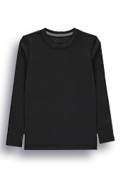 Product image of long sleeved black T-shirt