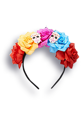 George Day of the Dead floral skeleton headband