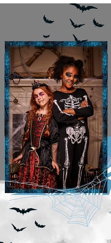 Discover our kids' spooky fancy dress range