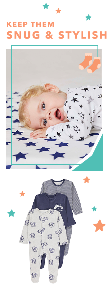 Kit baby out with a stylish selection of newborn clothing