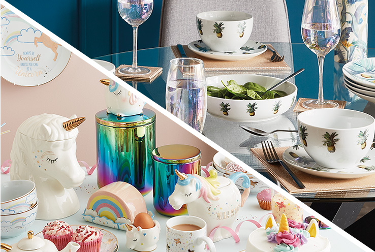 Bring a carnival of colour to your dinner table with our fruity tableware range