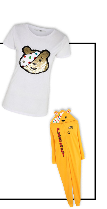 Shop our range of Pudsey t-shirts and onesies