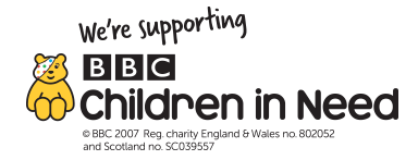 Show your support for Children in Need with our Pudsey clothing and accessories range